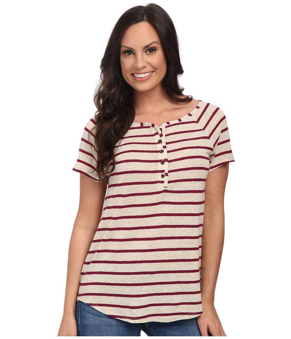 Lucky Brand - Even Stripe Top (Purple Stripe) Women's T Shirt