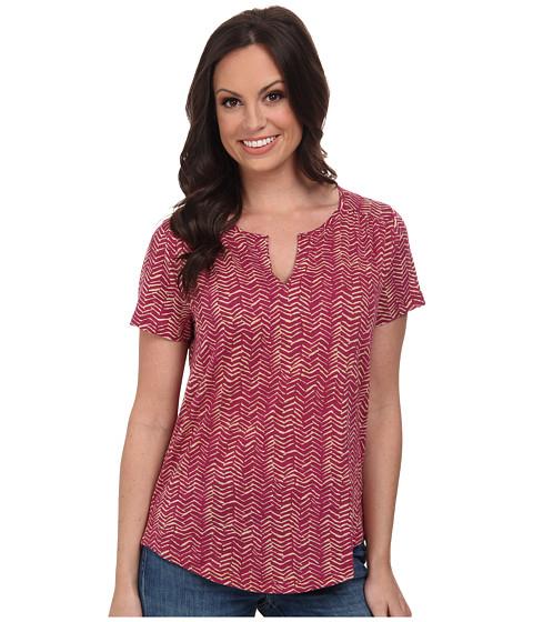 Lucky Brand - Crosshatch Chevron Top (Purple Multi) Women's Clothing