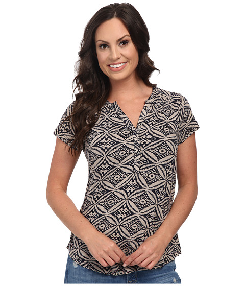 Lucky Brand - Ikat Circles Top (Navy Multi) Women
