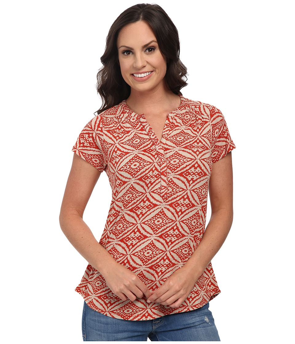 Lucky Brand - Ikat Circles Top (Red Multi) Women
