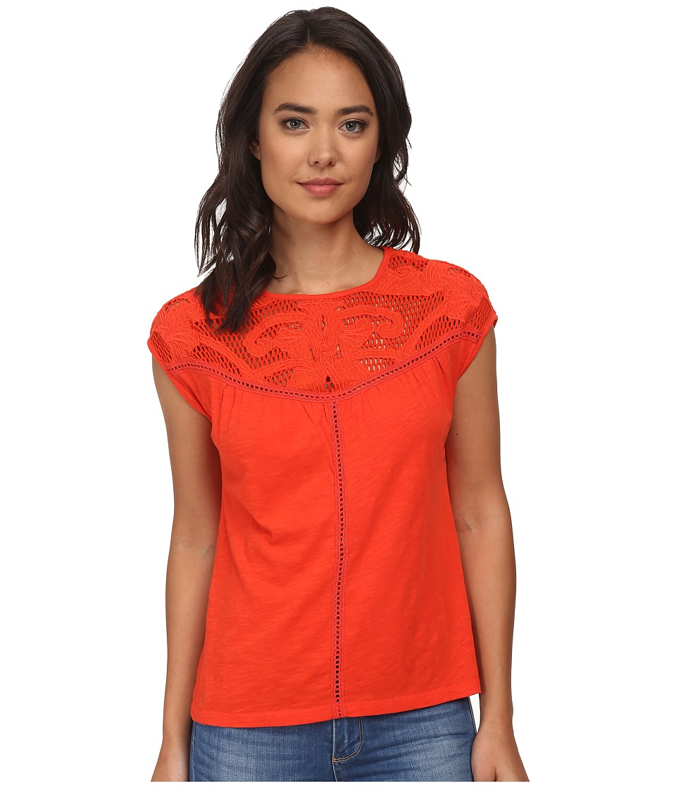 Lucky Brand - Applique Yoke Top (Grenadine) Women