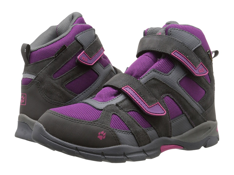 Jack Wolfskin Kids - Volcano Waterproof VC Mid (Big Kid) (Mallow Purple) Girl's Shoes