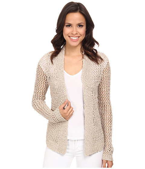 Lucky Brand - Textured Cardigan (Natural) Women