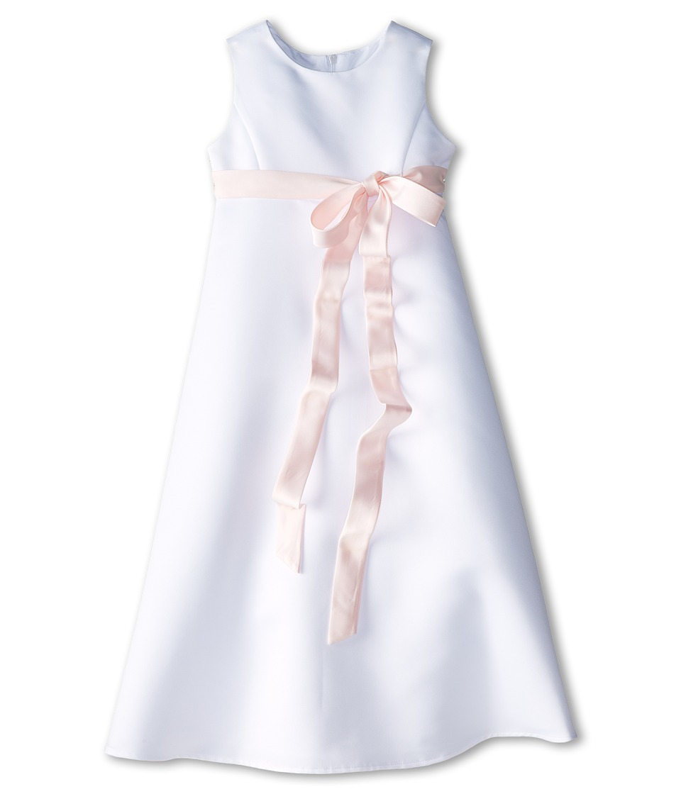 Us Angels - Satin A-Line Dress (Little Kids) (Blush Pink) Girl's Dress
