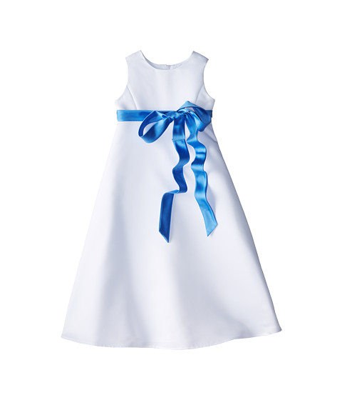 Us Angels - Satin A-Line Dress (Little Kids) (Cornflower) Girl's Dress