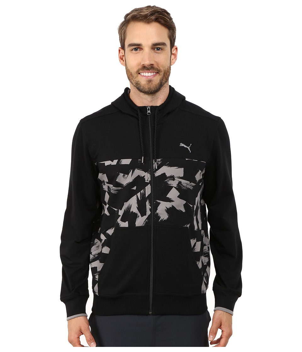 PUMA - Full Zip Lightweight Hoodie (Black/Print) Men's Sweatshirt