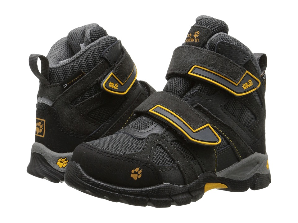 Jack Wolfskin Kids - Volcano Waterproof VC Mid (Toddler/Little Kid) (Burly Yellow) Kid's Shoes