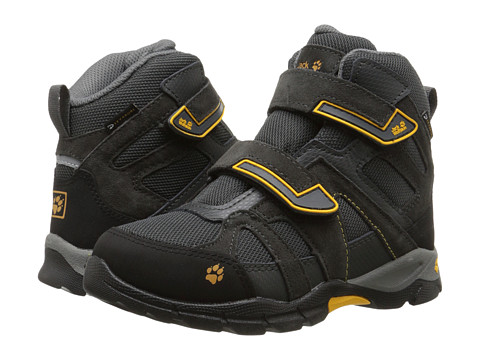 Jack Wolfskin Kids - Volcano Waterproof VC Mid (Little Kid/Big Kid) (Burly Yellow) Kid's Shoes