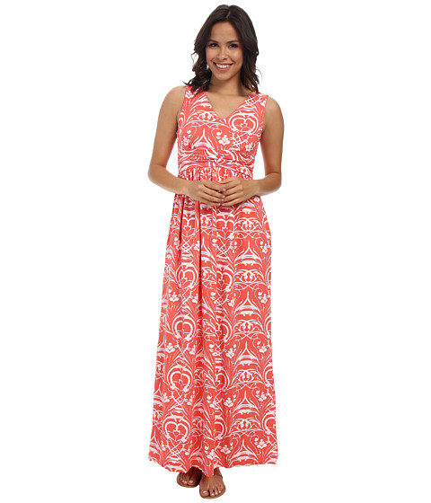 Fresh Produce - Riviera Veranda Maxi Dress (Red Coral) Women