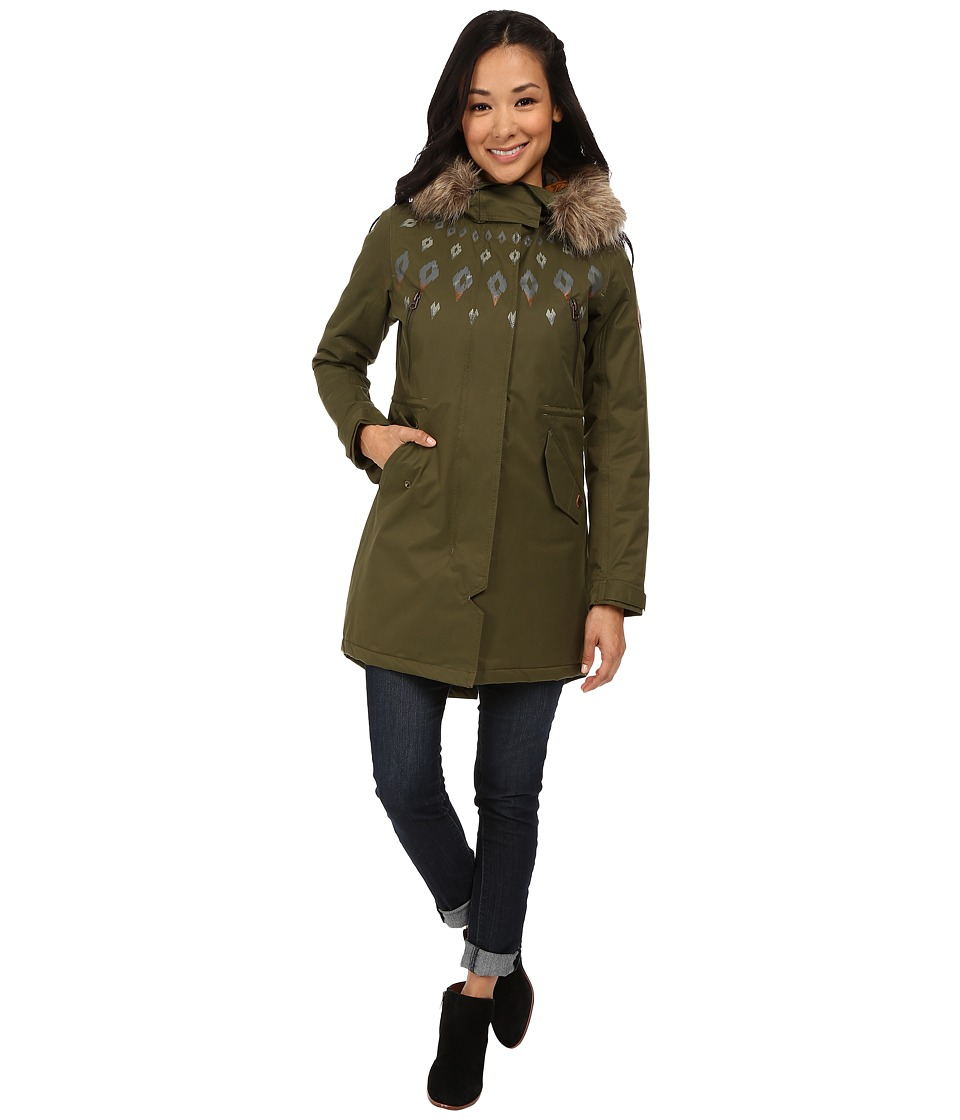 Burton - Barge Jacket (Olive Night) Women's Coat