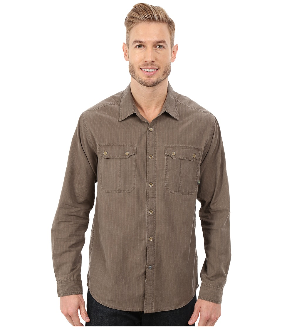 ExOfficio - Hallstatt Long Sleeve Top (Cigar) Men's Long Sleeve Button Up