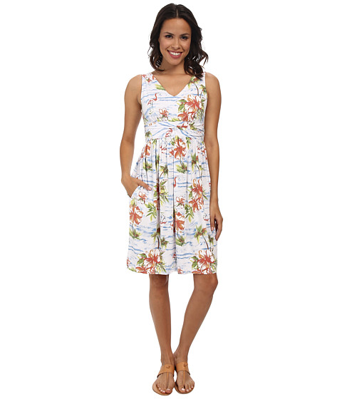 Fresh Produce - Tropic Flea Market Dress (White) Women's Dress