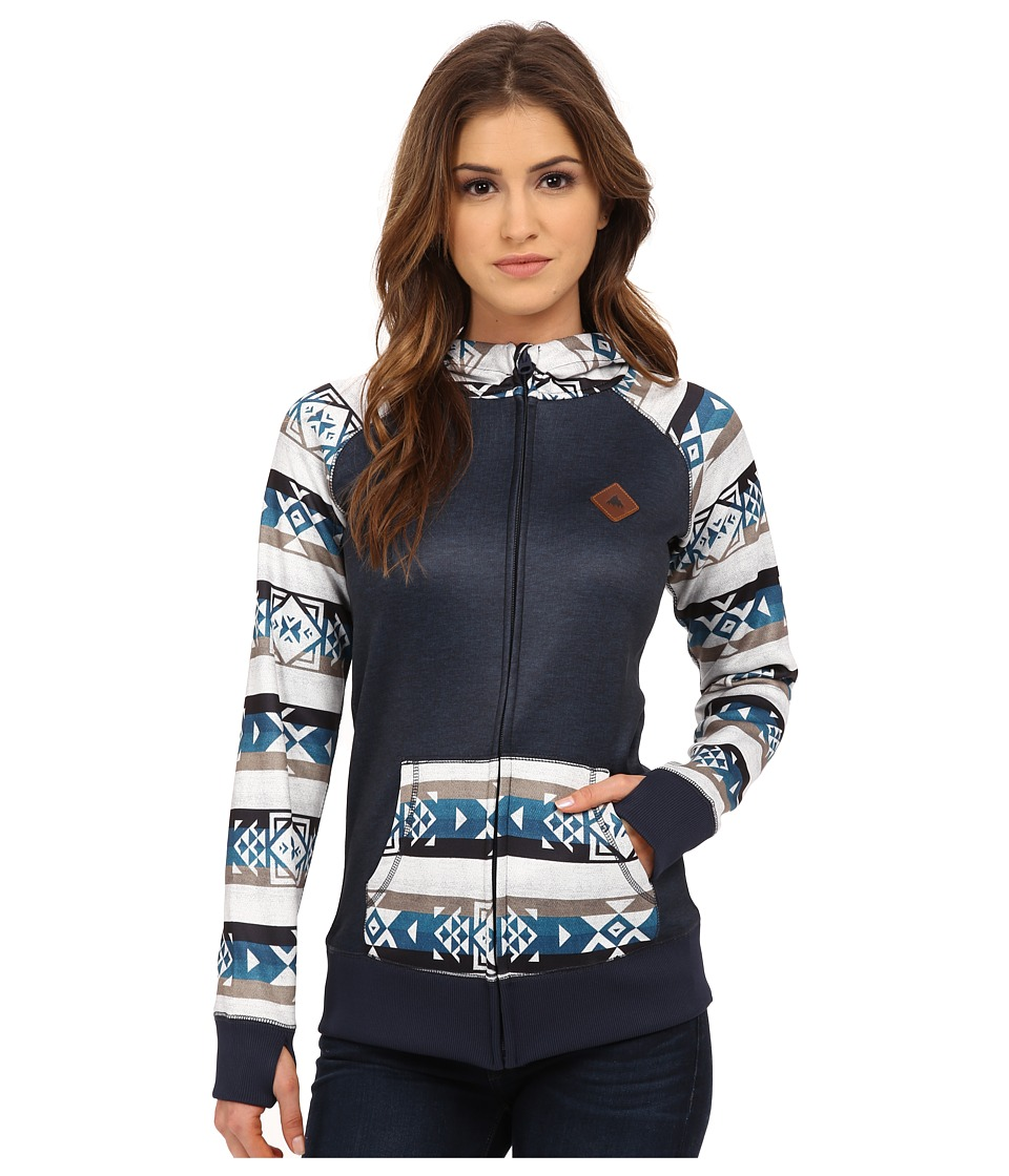 Burton - Scoop Hoodie (Banded Geo Small) Women's Sweatshirt