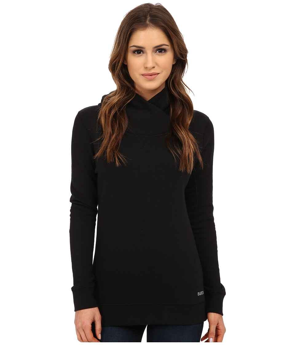 Burton - Her Logo Mock Neck Pullover (True Black) Women's Sweatshirt
