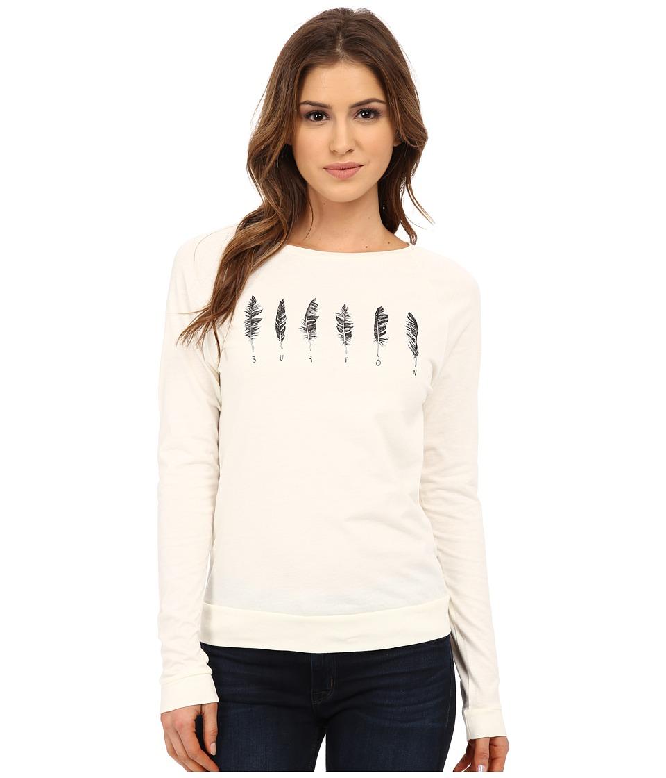 Burton - Wilson Longe Sleeve Shirt (Vanilla) Women's T Shirt