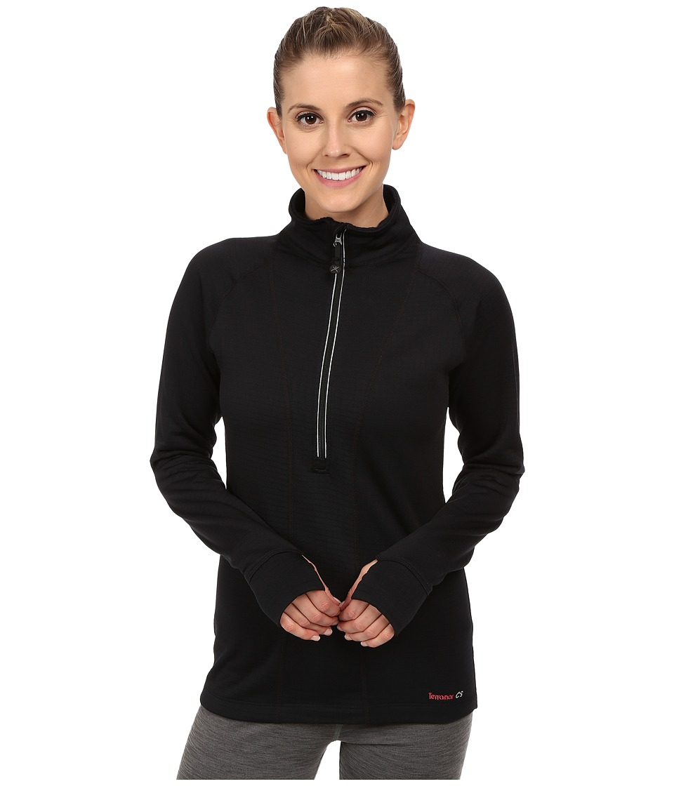 Terramar - Ecolator Performance Long Sleeve 1/2 Zip W8538 (Black) Women's Long Sleeve Pullover