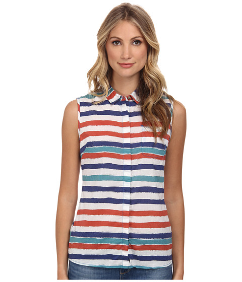 J.A.C.H.S. - Striped Sleeveless Shirt (Pink/Blue) Women's Sleeveless