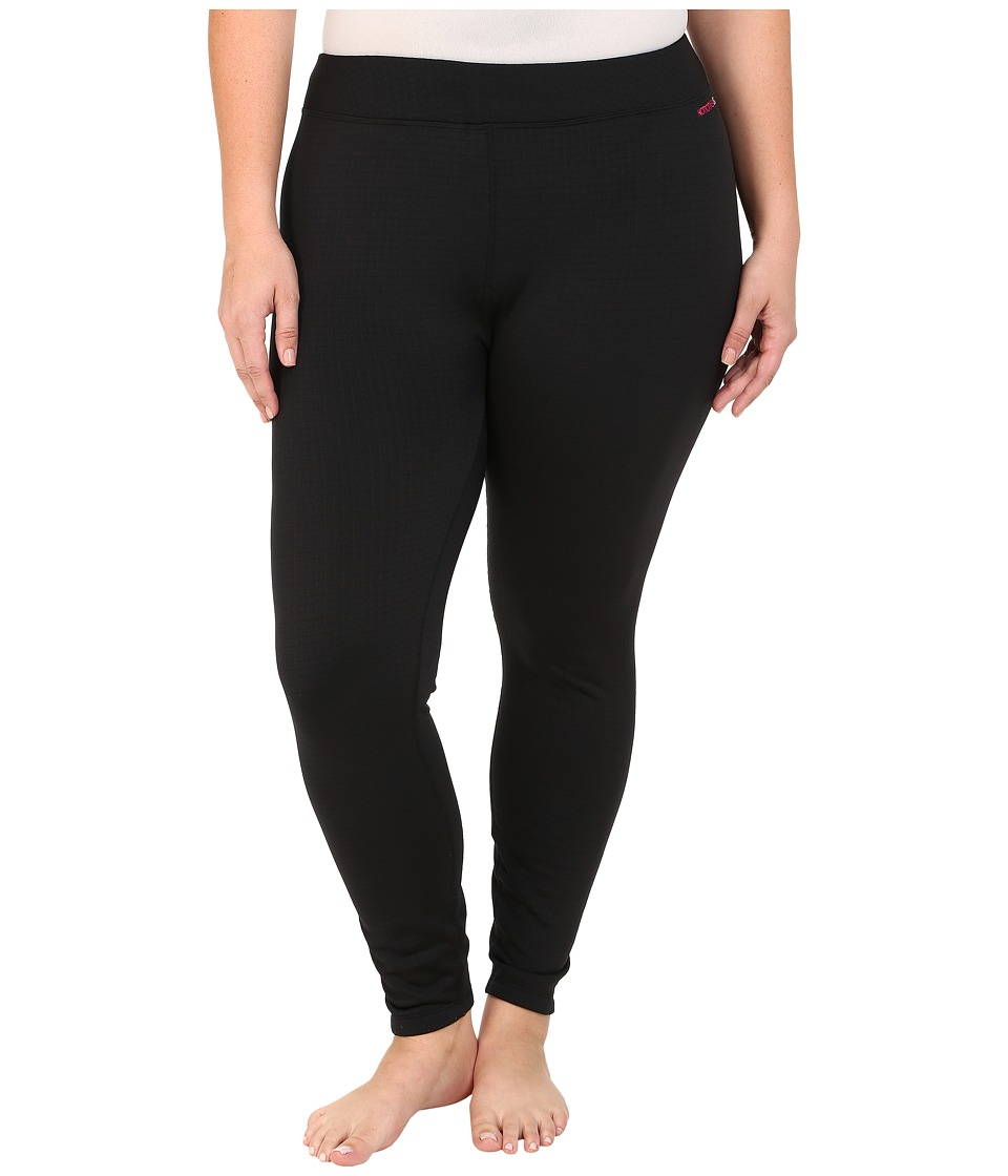 Terramar - Plus Size Ecolator Performance Tights W8542W (Black) Women's Casual Pants