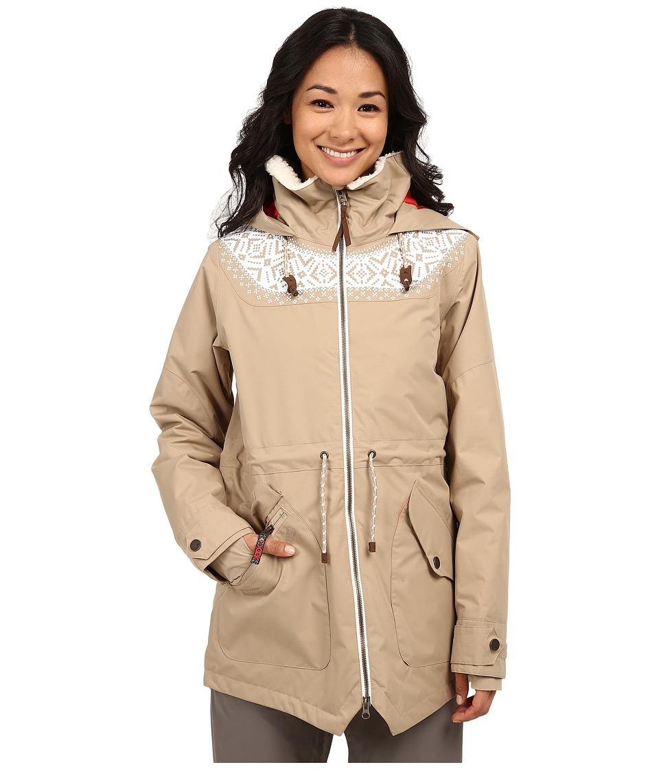 Burton - Prowess Jacket (Sandstruck/Fair Isle Print) Women's Coat