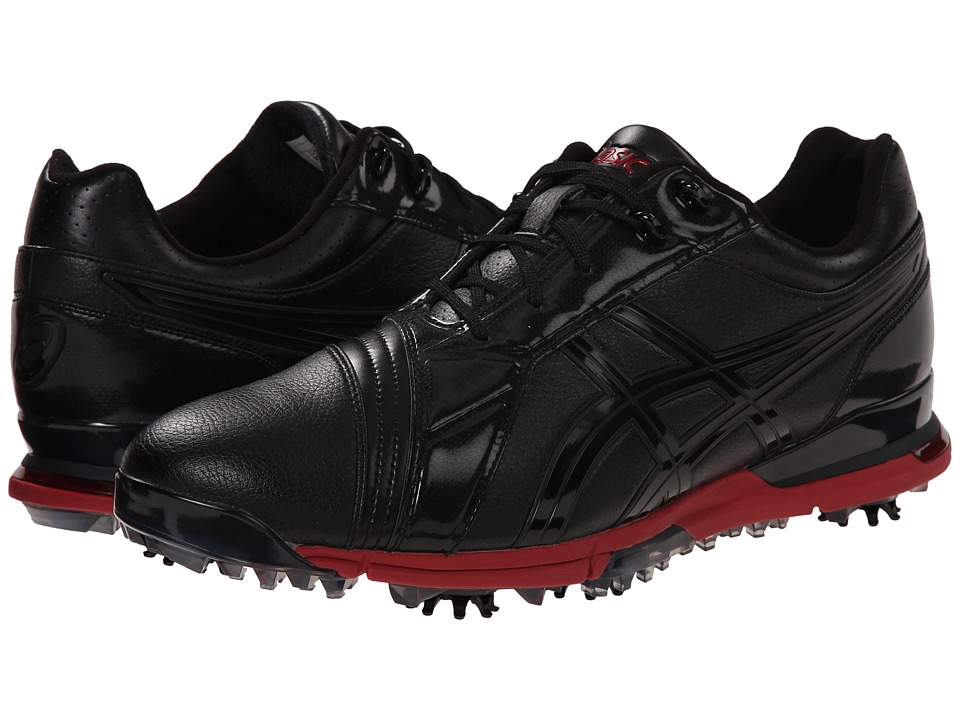 ASICS - Gel-Ace Pro FG (Black/Black/Red) Men's Golf Shoes