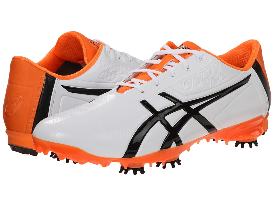 ASICS - Gel-Ace Pro Light (White/Black/Flash Orange) Men's Golf Shoes