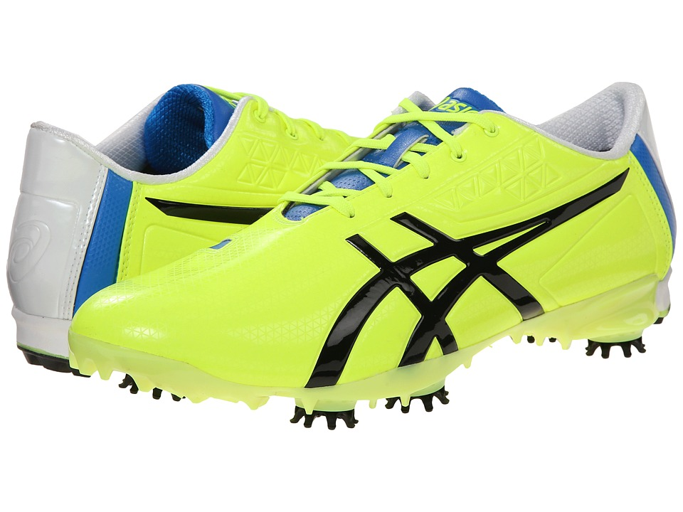 ASICS - Gel-Ace Pro Light (Flash Yellow/Black/Blue) Men's Golf Shoes