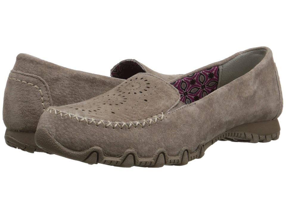 SKECHERS - Bikers - Expressway (Dark Taupe) Women's Slip on Shoes