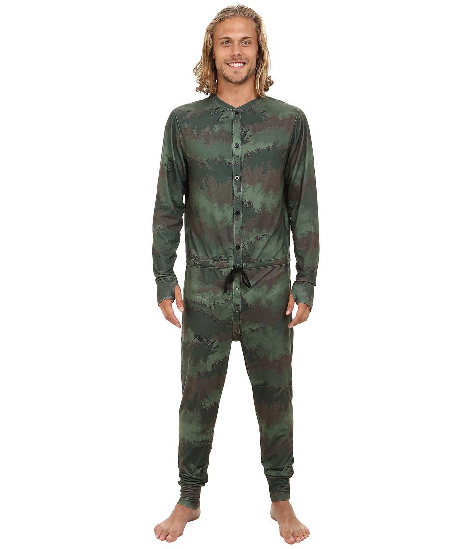 Burton - Midweight Union Suit (Oil Camo) Men