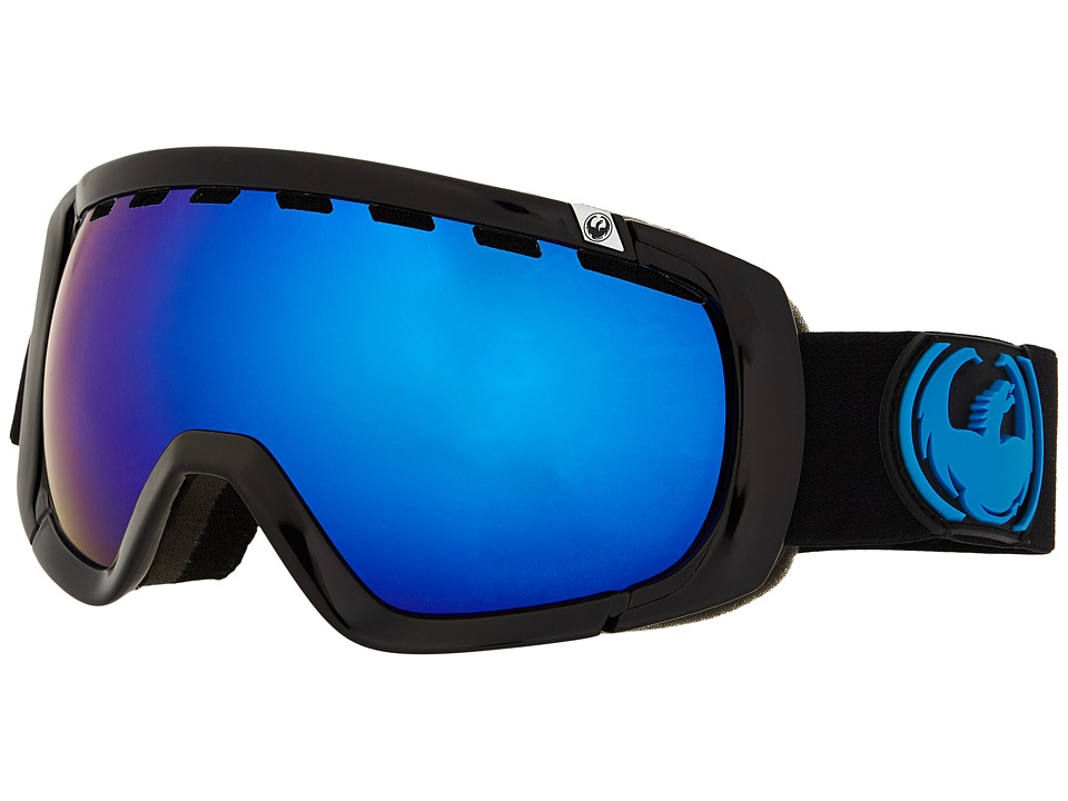 Dragon Alliance - Rogue (Jet/Dark Smoke Blue/Yellow Red Ionized) Snow Goggles