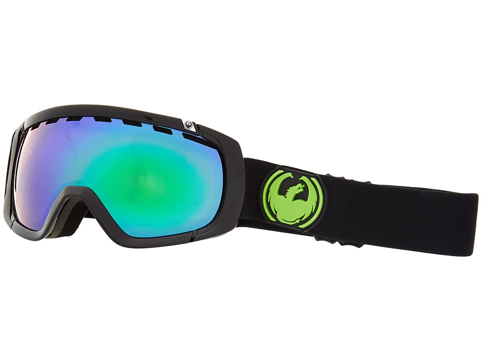 Dragon Alliance - Rogue (Jet/Green Ionized/Yellow Blue Ionized) Snow Goggles