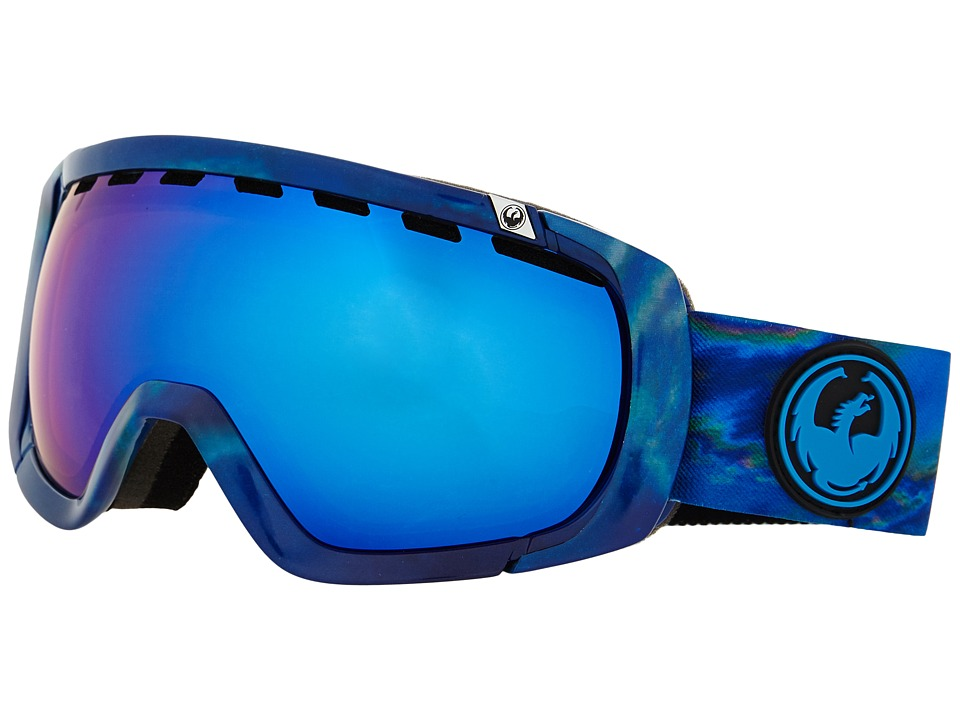 Dragon Alliance - Rogue (Layer/Dark Smoke Blue/Yellow Red Ionized) Snow Goggles