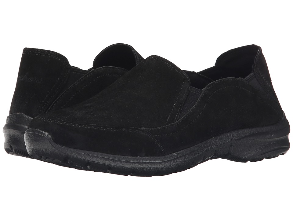 SKECHERS - Relaxed Living - 4 Gore (Black) Women's Slip on Shoes