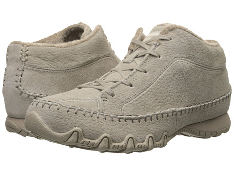 SKECHERS - Bikers - Totem Pole (Taupe) Women's Lace up casual Shoes