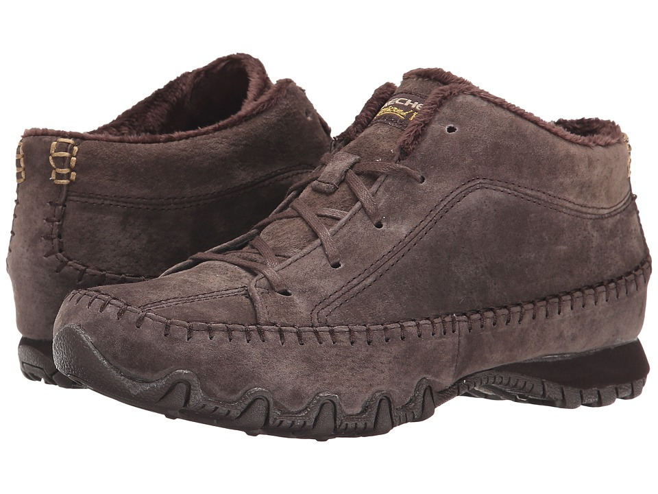 SKECHERS - Bikers - Totem Pole (Chocolate) Women's Lace up casual Shoes