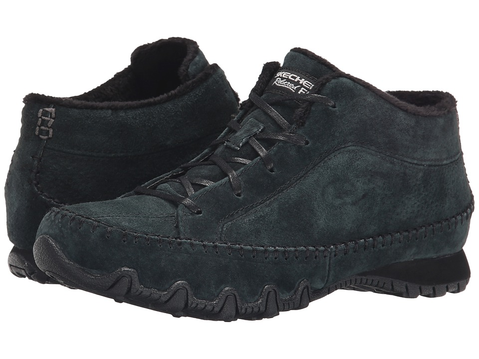 SKECHERS - Bikers - Totem Pole (Black) Women's Lace up casual Shoes