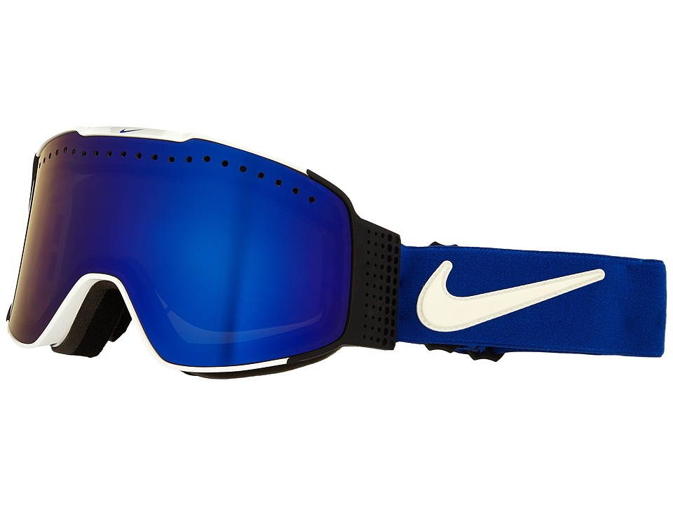 Dragon Alliance - Fade X Nike (White Game Royal/Dark Smoke Blue/Silver Ionized) Goggles