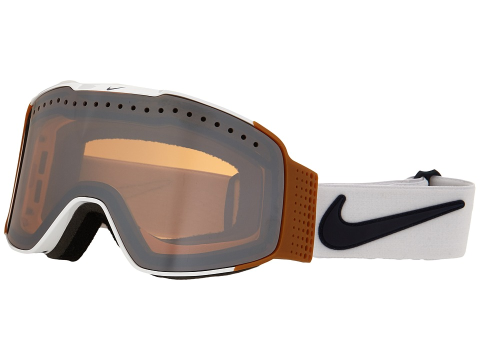 Dragon Alliance - Fade X Nike (White Gum Dark Obsidian/Silver Ionized) Goggles