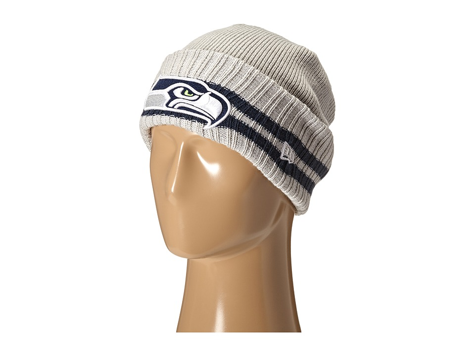 New Era - 2 Striped Cuff Seattle Seahawks (Grey) Traditional Hats