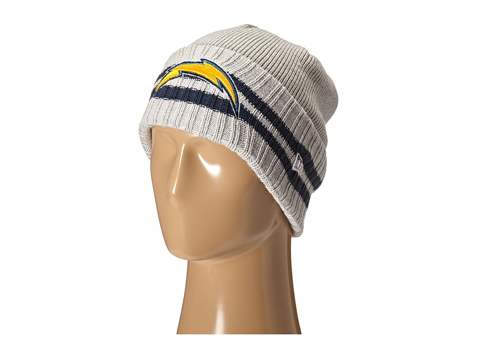New Era - 2 Striped Cuff San Diego Chargers (Grey) Traditional Hats