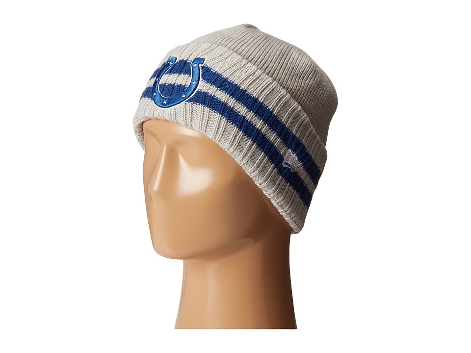 New Era - 2 Striped Cuff Indianapolis Colts (Grey) Traditional Hats