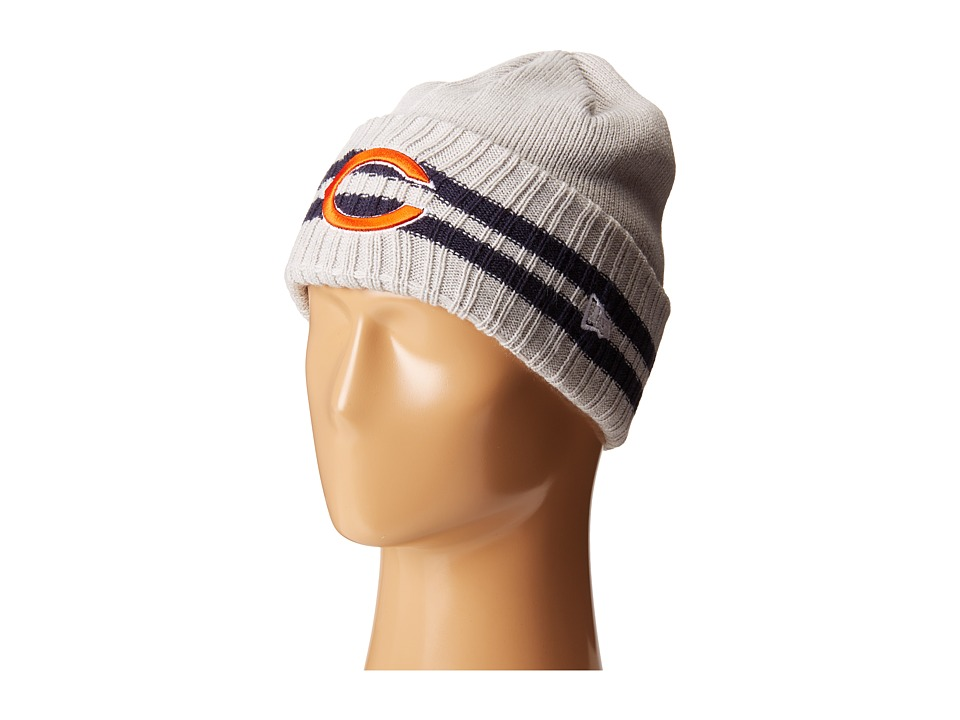 New Era - 2 Striped Cuff Chicago Bears (Grey) Traditional Hats