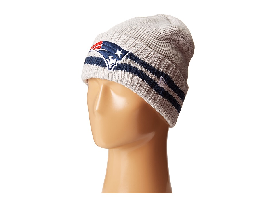 New Era - 2 Striped Cuff New England Patriots (Grey) Traditional Hats