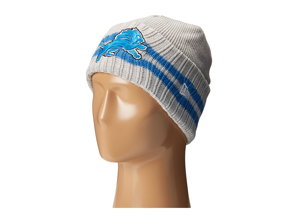 New Era - 2 Striped Cuff Detroit Lions (Grey) Traditional Hats