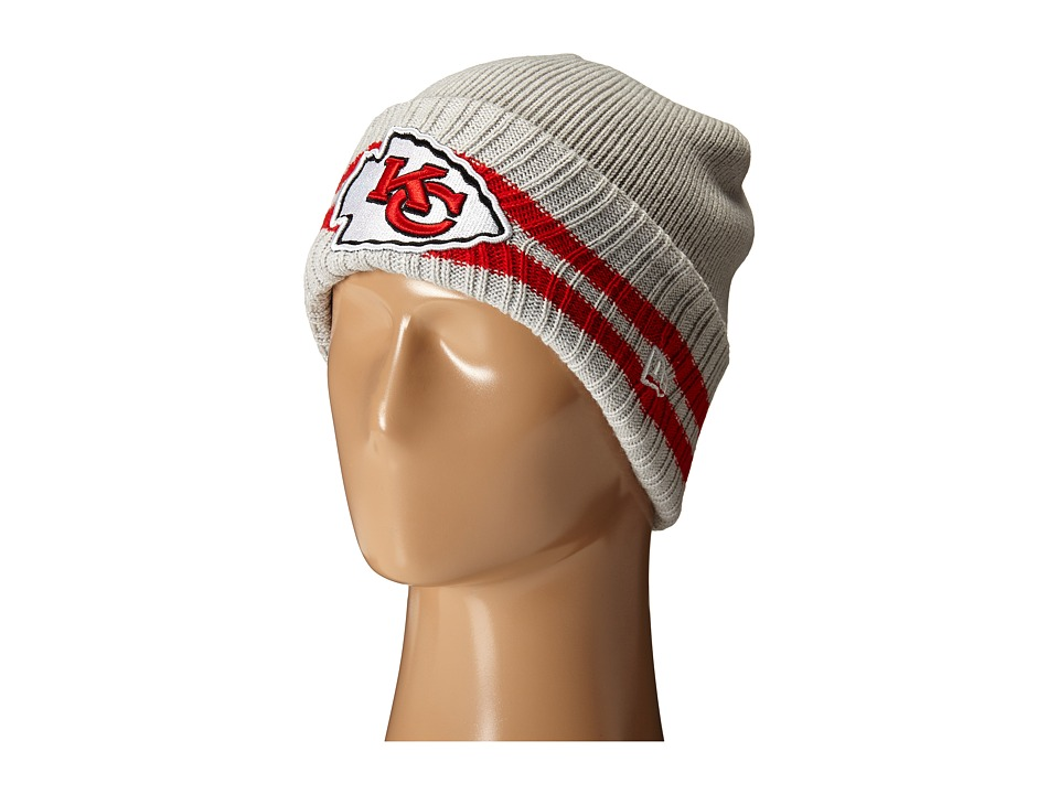 New Era - 2 Striped Cuff Kansas City Chiefs (Grey) Beanies