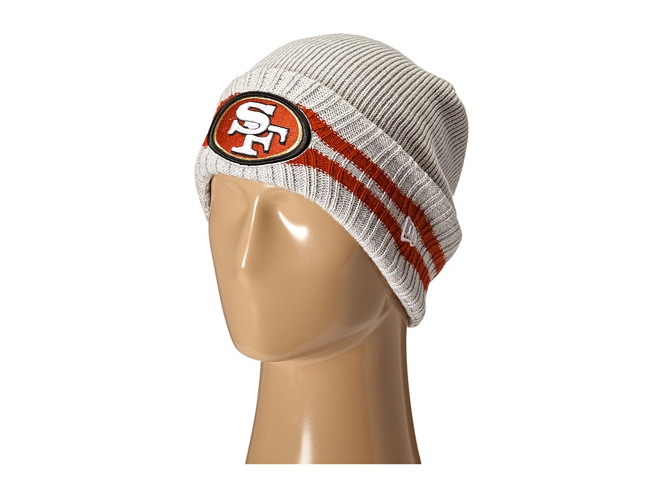 New Era - 2 Striped Cuff San Francisco 49ers (Grey) Traditional Hats