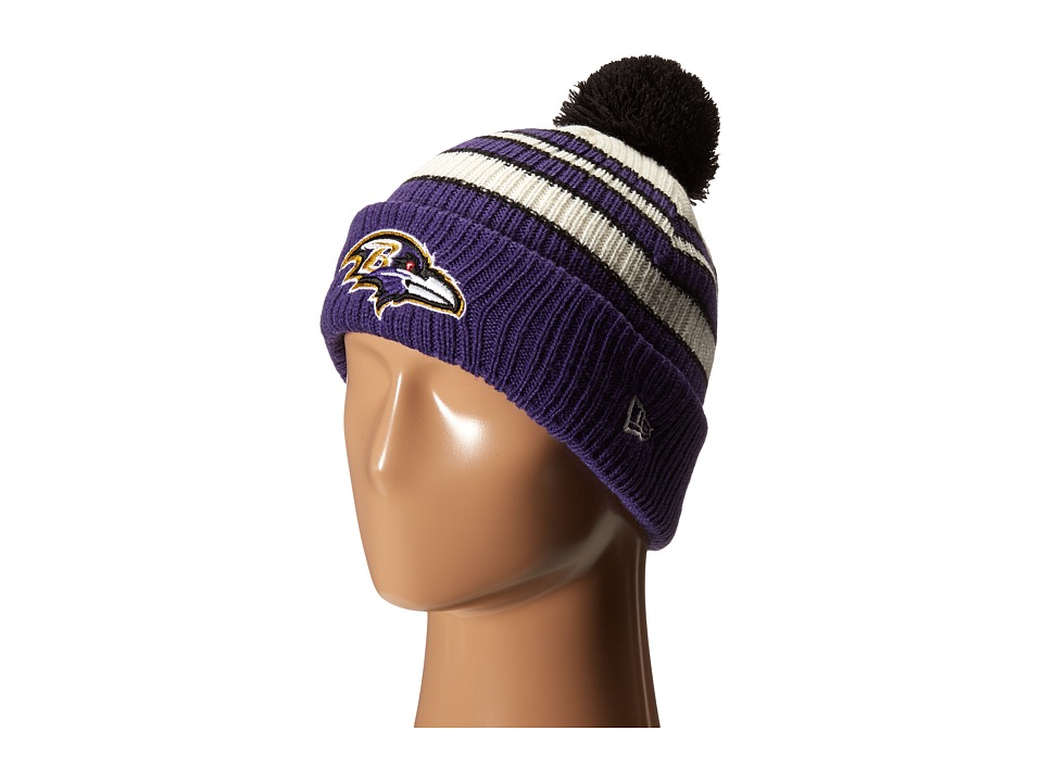 New Era - Traditional Stripe Baltimore Ravens (Dark Purple) Traditional Hats