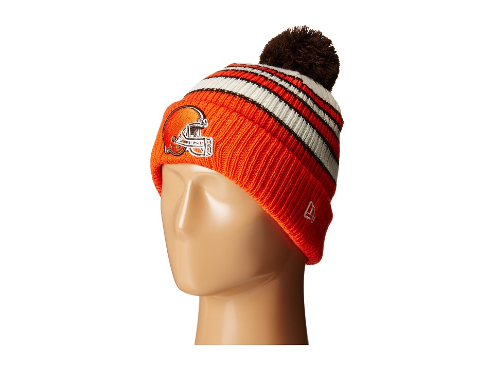 New Era - Traditional Stripe Cleveland Browns (Brown) Beanies
