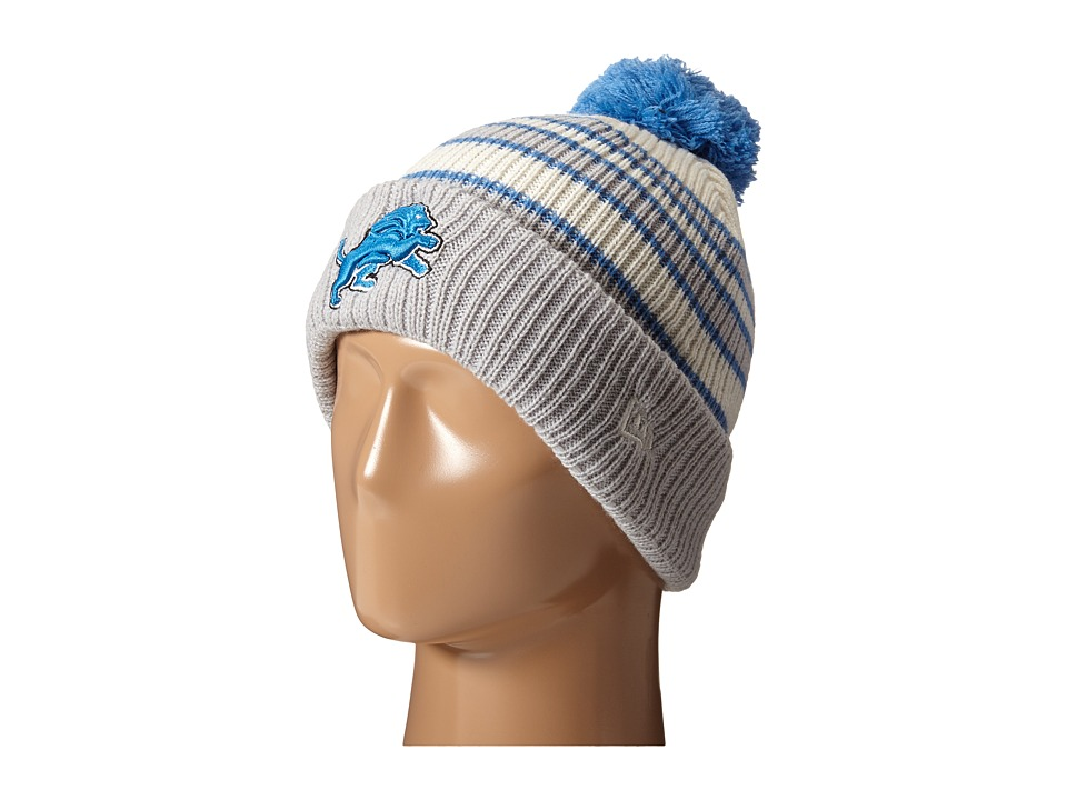 New Era - Traditional Stripe Detroit Lions (Medium Blue) Beanies