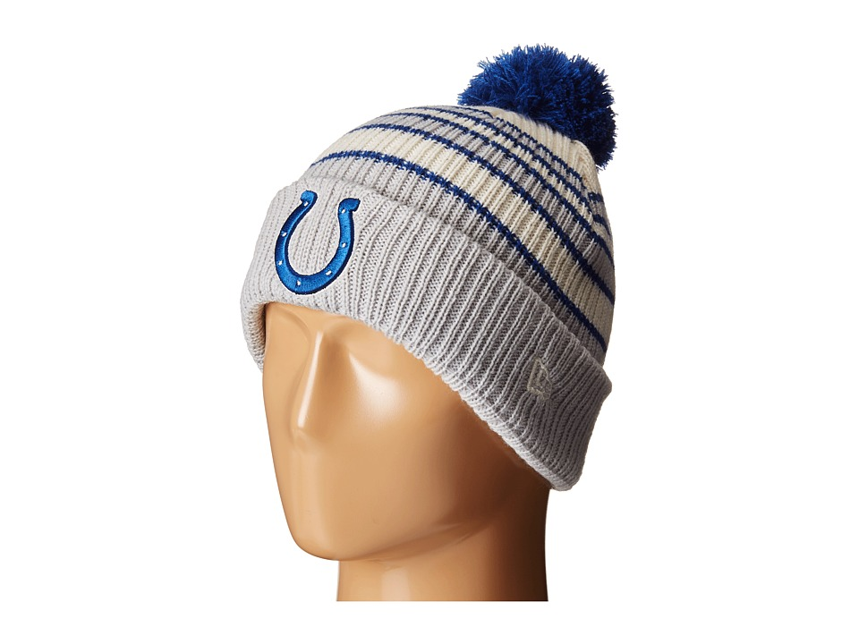 New Era - Traditional Stripe Indianapolis Colts (Medium Blue) Beanies