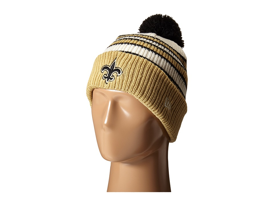 New Era - Traditional Stripe New Orleans Saints (Black) Beanies